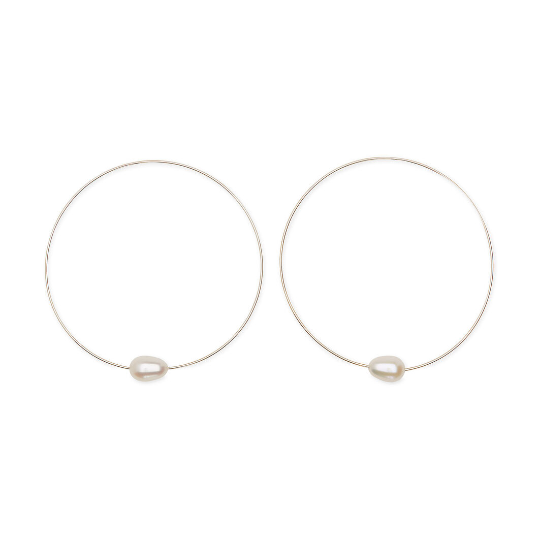 Melissa McArthur Pearl Hoop Earrings in color