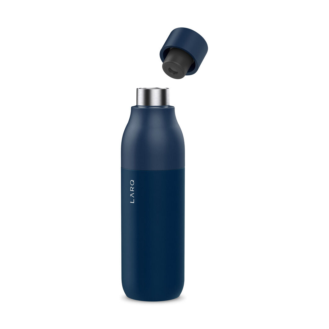 LARQ Self-Cleaning UV Water Bottle in color Navy