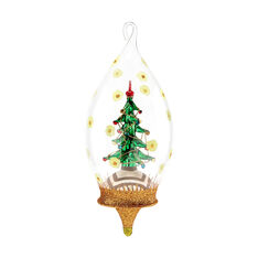 Dazzling Tree Globe Christmas Ornament in color