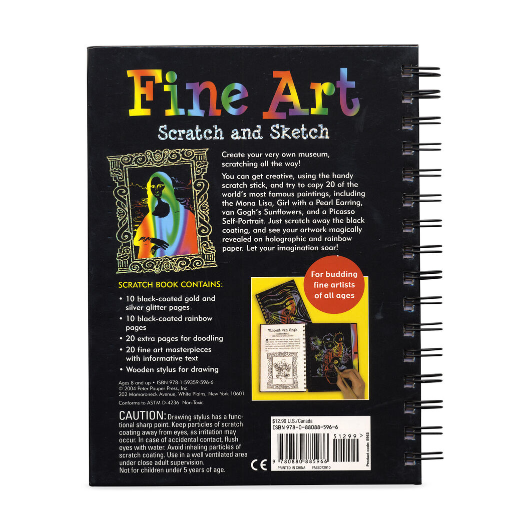 Fine Art Scratch And Sketch A Cool Art Activity Book For Budding