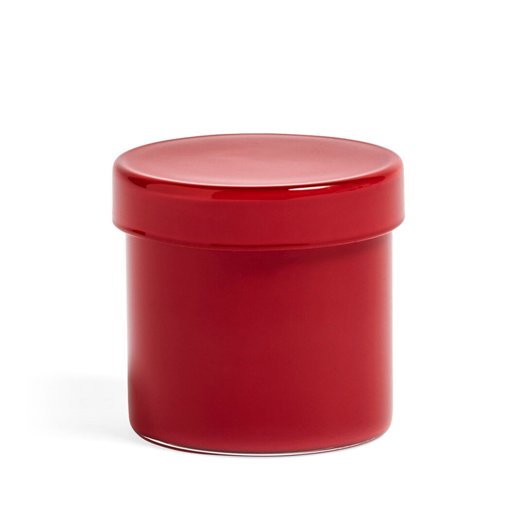 HAY Small Glass Containers in color Red