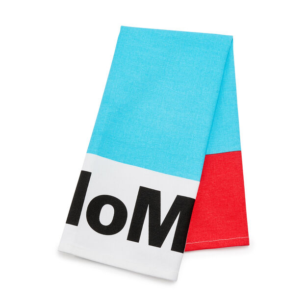 MoMA Cotton Tea Towel in color Red/ Blue