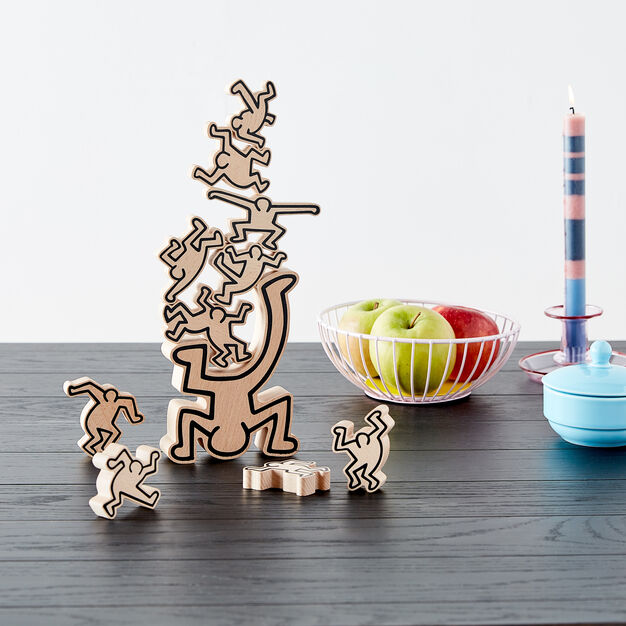 Keith Haring Stacking Figures Game in color