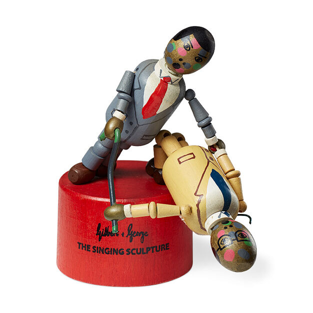 Gilbert & George Singing Sculpture Wooden Toy in color