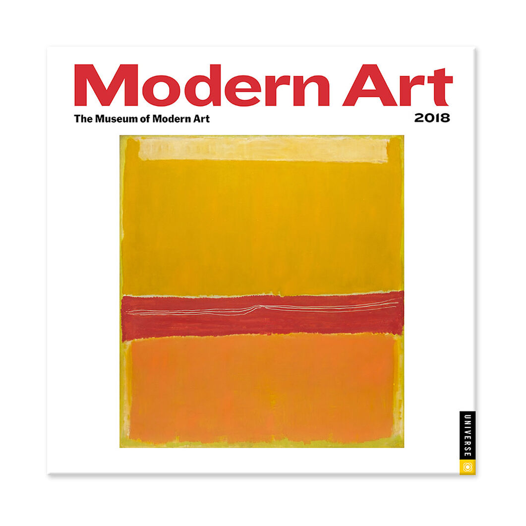 2018 Modern Art Mini Wall Calendar in color