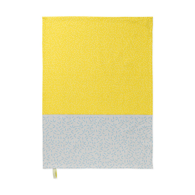 Splash Tea Towels -  Yellow/ Blue in color Yellow/ Blue
