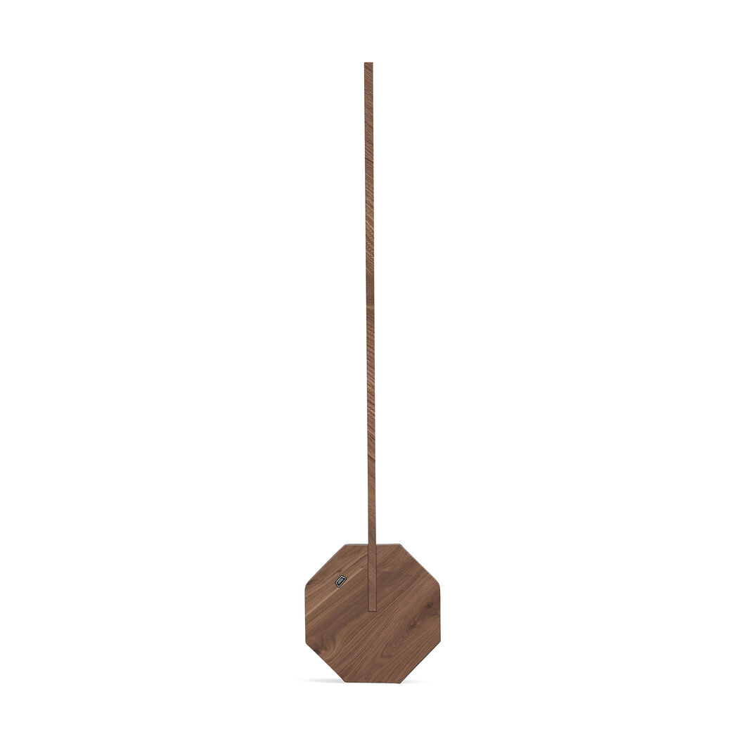 Octagon Portable Desk Light in color Walnut