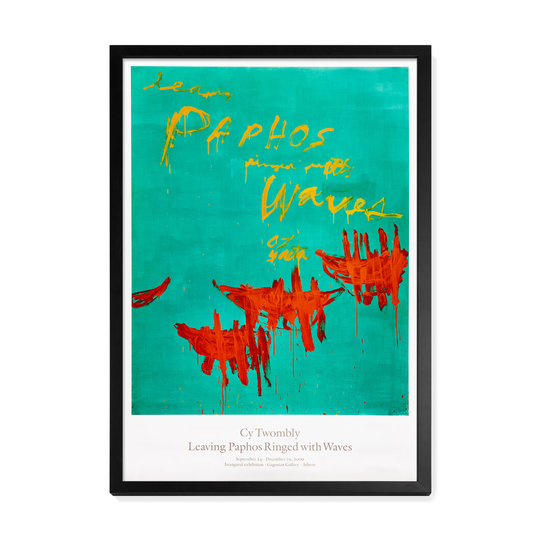 Cy Twombly: Leaving Paphos Ringed with Waves Framed Poster in color