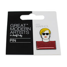 Andy Warhol Enamel Artist Pin in color