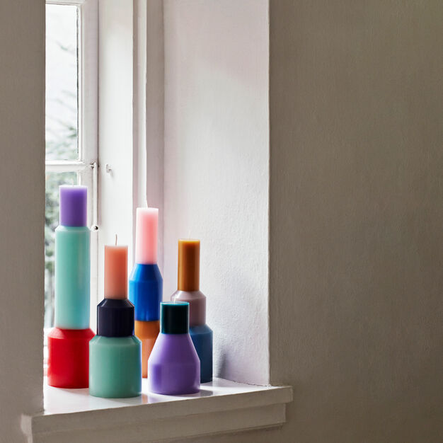 HAY Pillar Candle in color Yellow