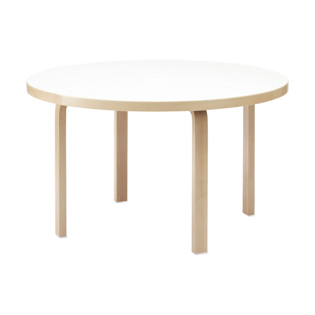 Artek Aalto Round Dining Table 91 in color White
