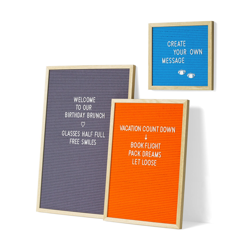 Letters Box Set in color White