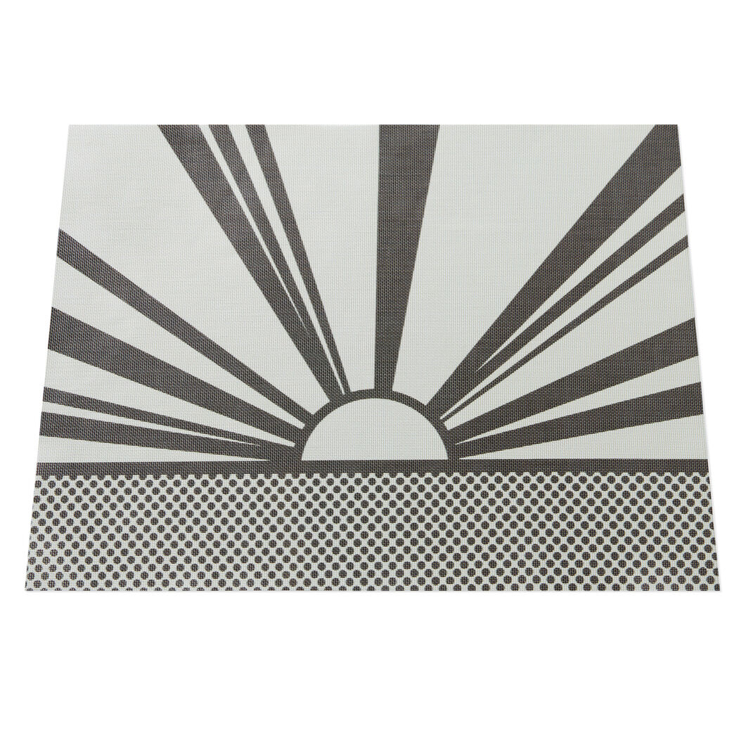 Roy Lichtenstein: Sunset Placemat in color Black
