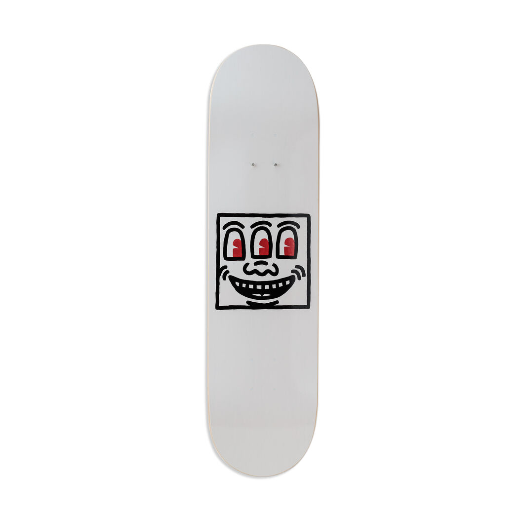 Keith Haring Untitled Skateboard in color Red/ Black