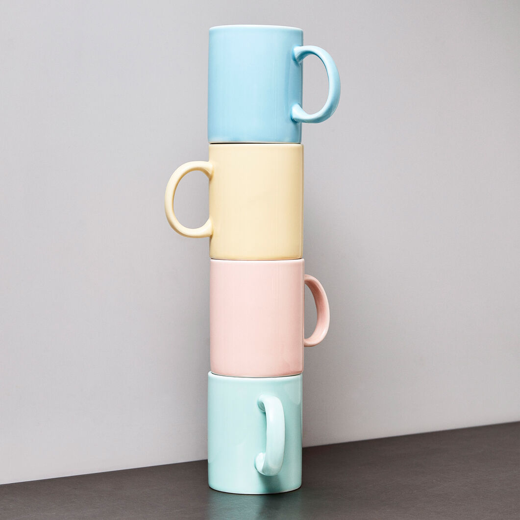 HAY Rainbow Porcelain Mugs in color Light Blue
