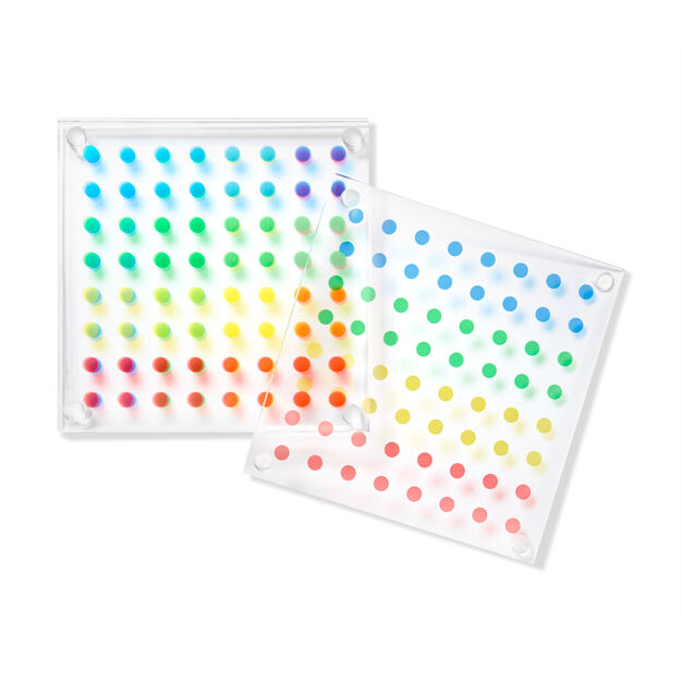 Dot Coasters in color