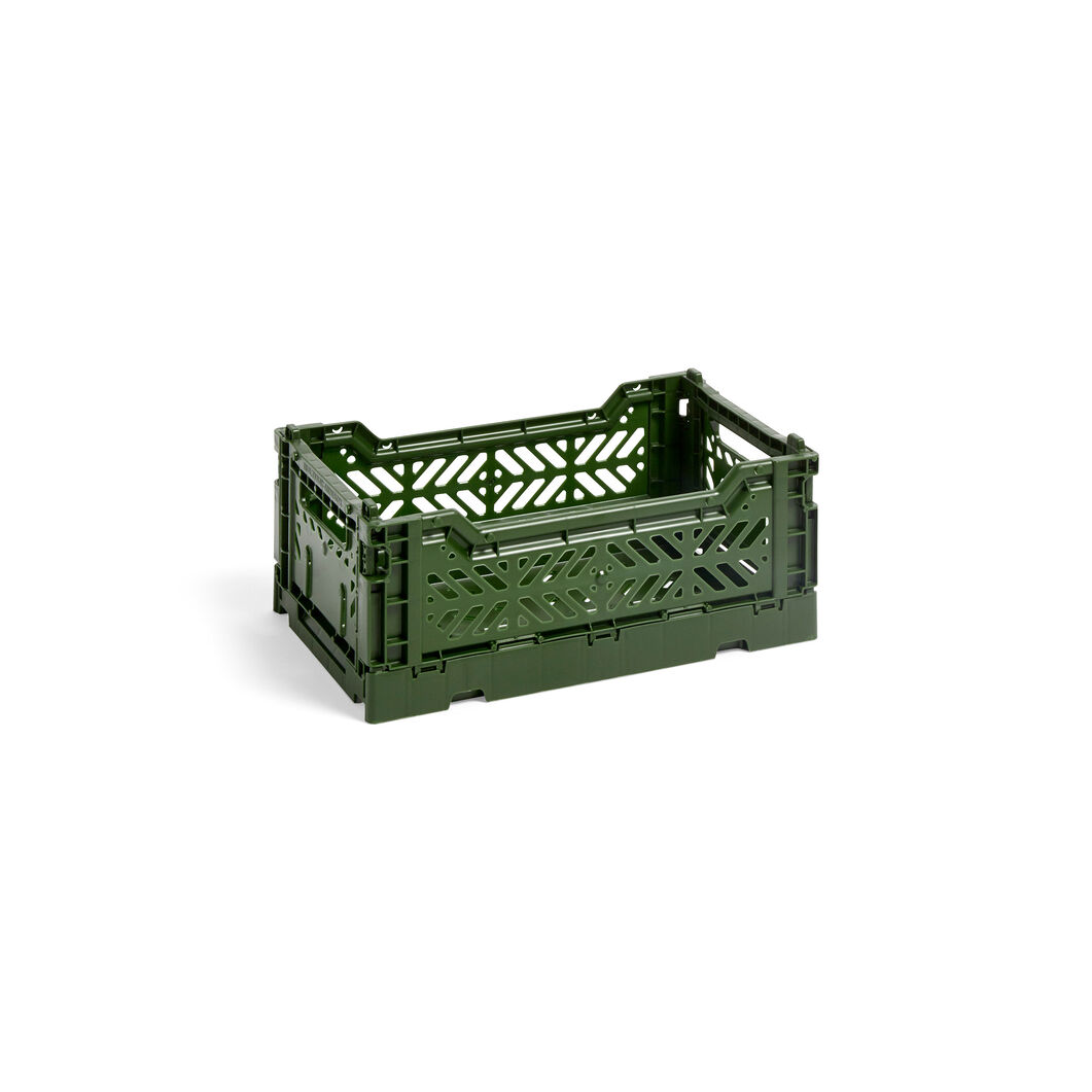 HAY Collapsible Storage Bins in color Khaki