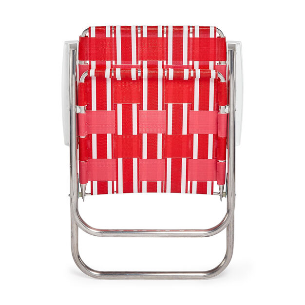 Classic Lawn Chair in color Red/ Pink/ White