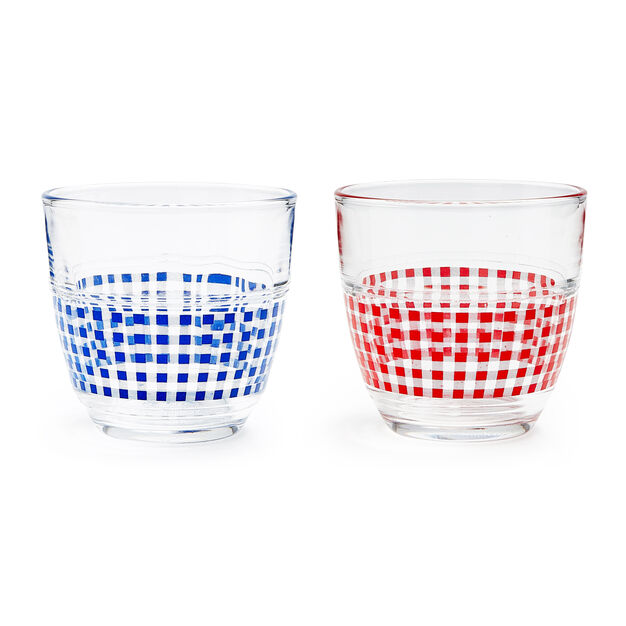 Gigogne Vichy Glass Tumbler - Set of 2 in color
