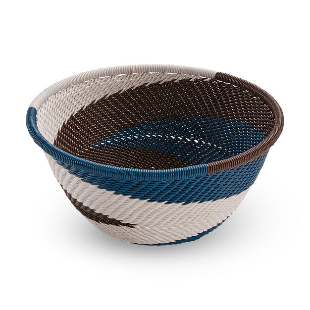 Telephone Wire Bowl in color Brown/ Cream