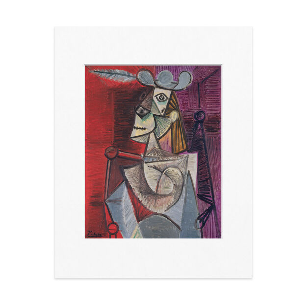 Picasso: Woman In An Armchair Matted Print in color