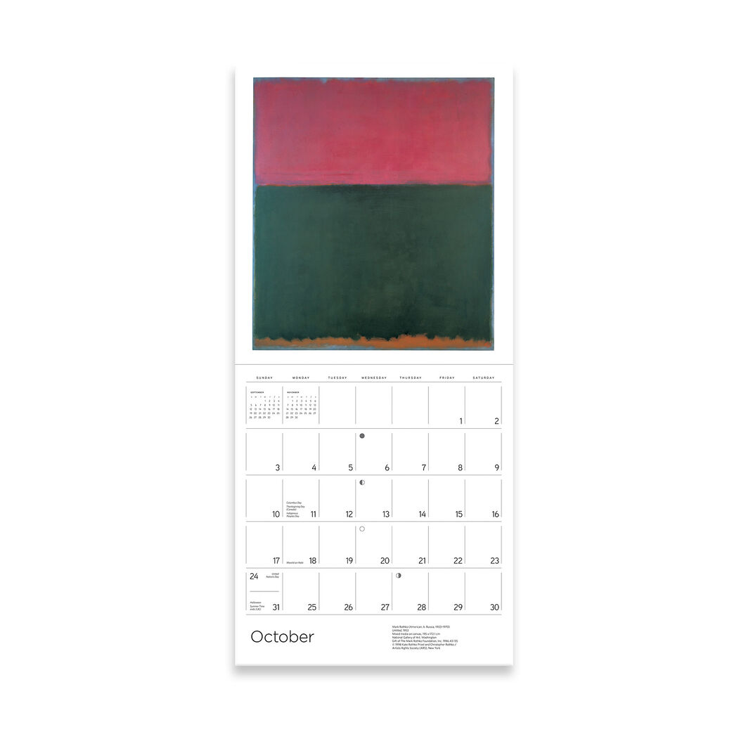 2021 Rothko Wall Calendar in color