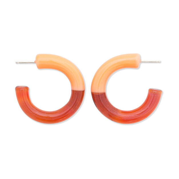 Keane Hoop Earrings in color Orange