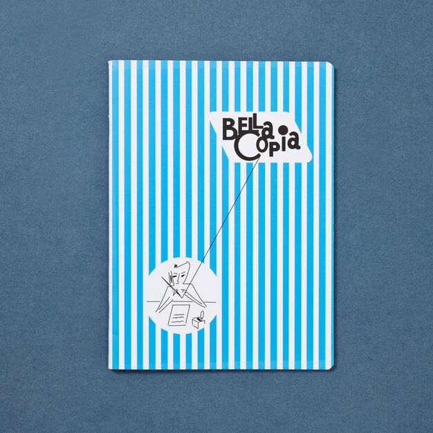 Bella Copia A5 Unlined Notebook in color Light Blue