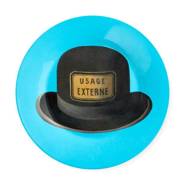 Magritte: Hat Plate in color