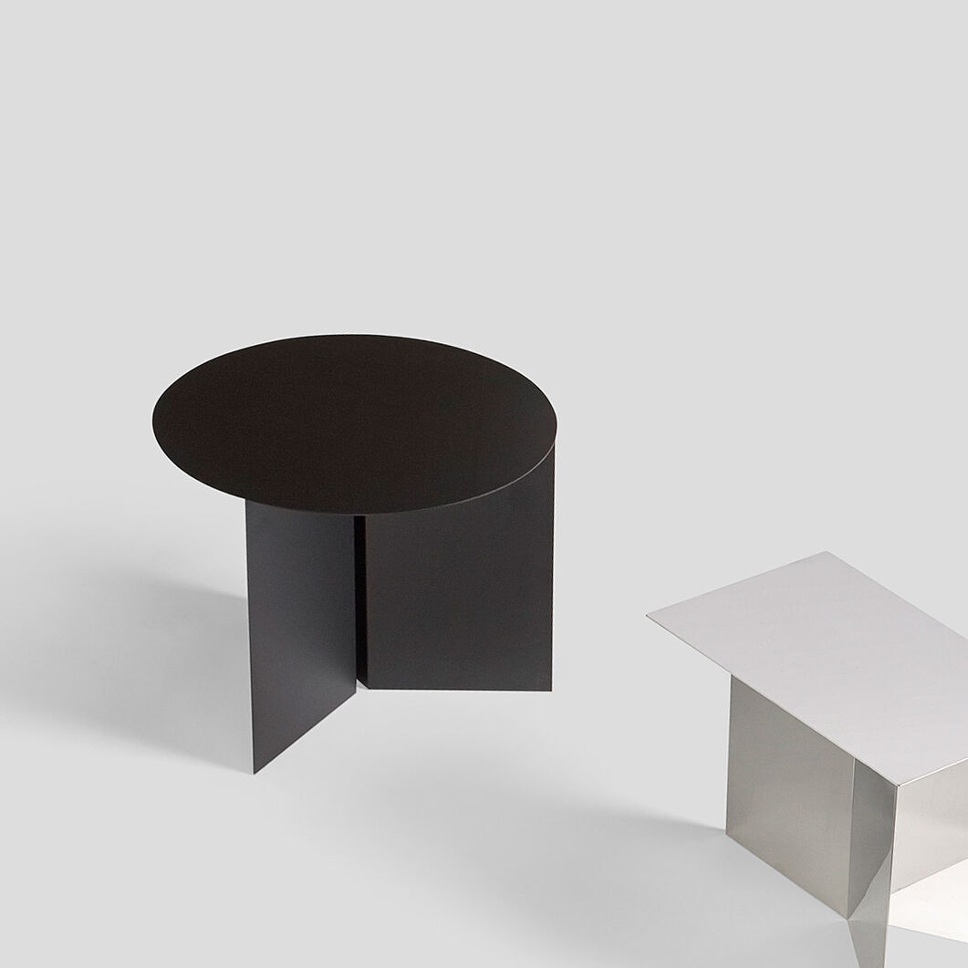 HAY Round Black Slit Table in color