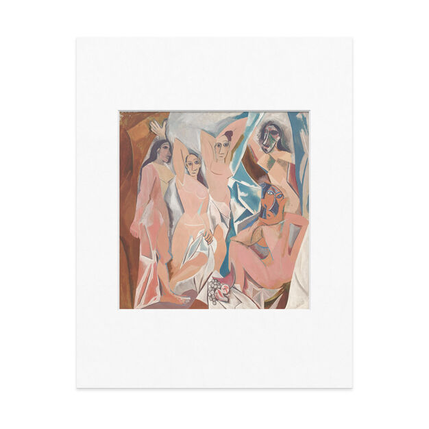 Picasso: Les Demoiselles d'Avignon Matted Print in color