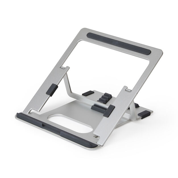 Pout Aluminum Adjustable Laptop Stand in color Silver