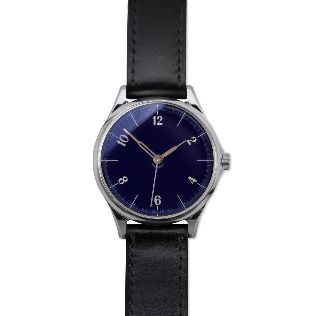 anOrdain Model 1 Watch - Parisian Blue Dial in color Black Shell