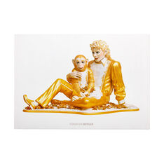 Jeff Koons: Michael Jackson and Bubbles Poster in color
