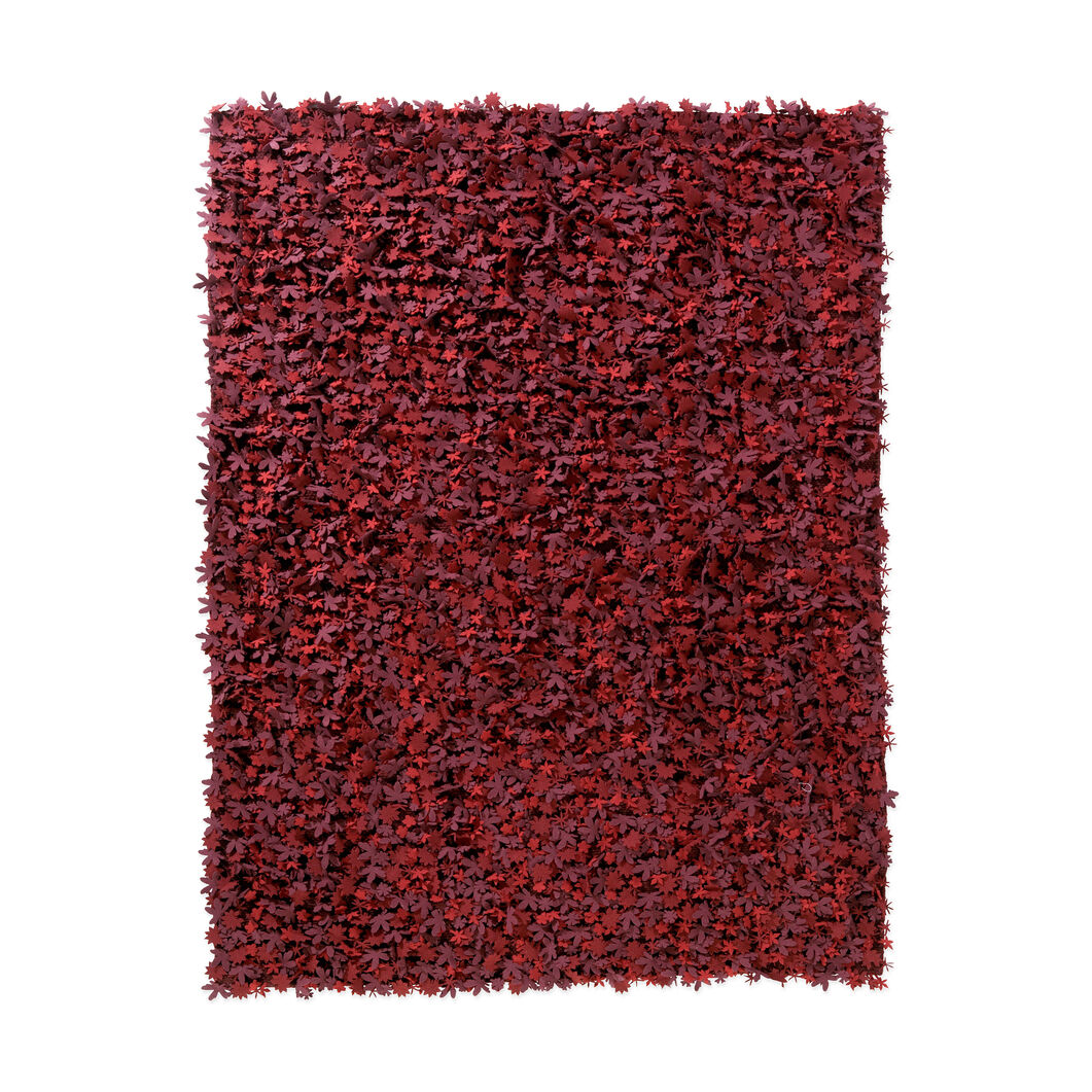 Nanimarquina Little Field of Flowers Rug in color Red
