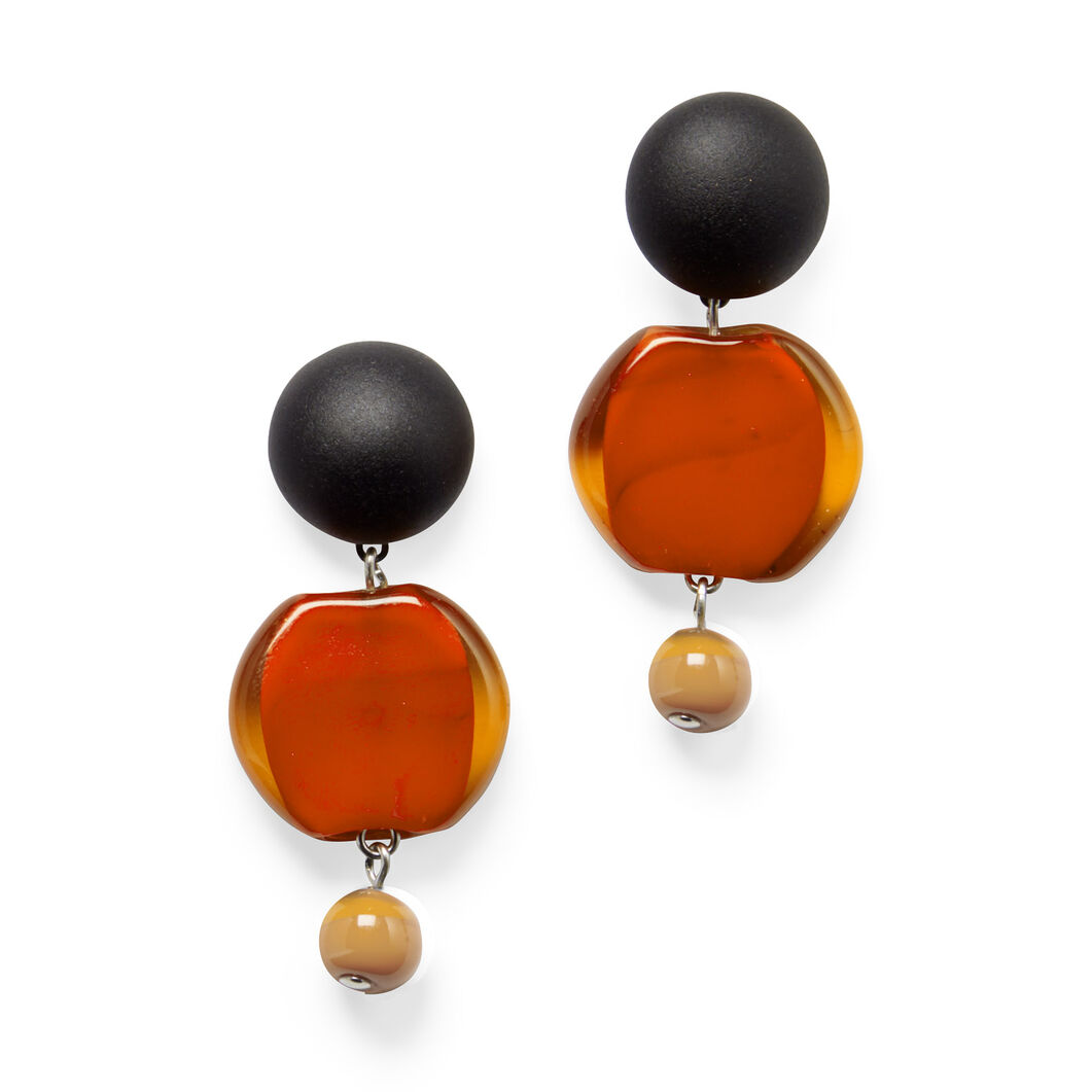 Murano Drop Earrings in color Orange
