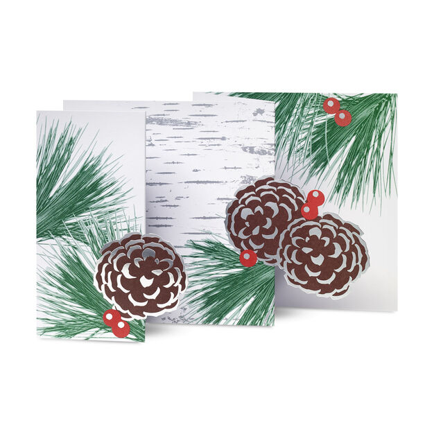 Wintery Birch Holiday Cards (Box of 8) in color