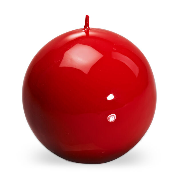 Italian Ball Candle in color Red