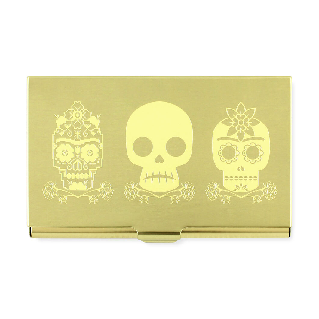 Frida Kahlo: Three Skulls Card Case in color