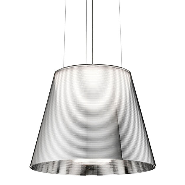 Flos Ktribe S2 Halogen Pendant Light in color Silver