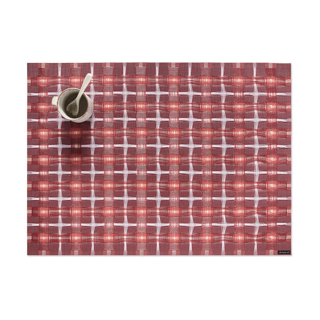 Chilewich Hopscotch Placemat in color Sangria