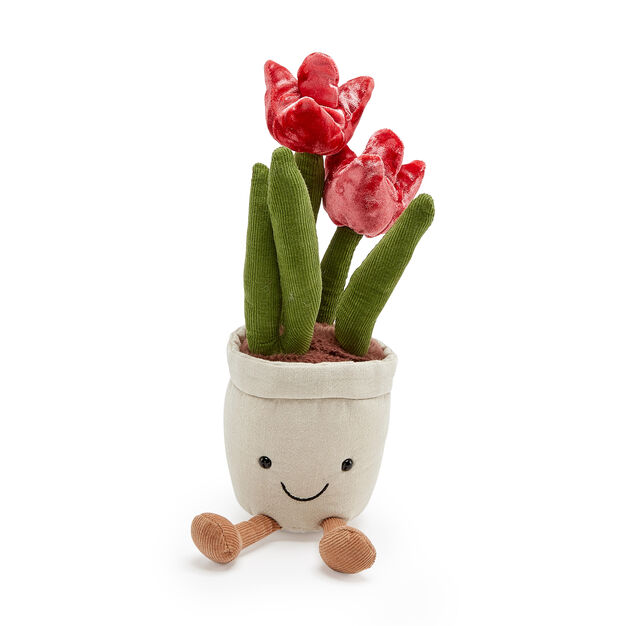 Plush Flower Plant in color Red