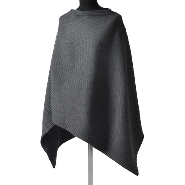 Fleece Poncho - Gray in color Grey