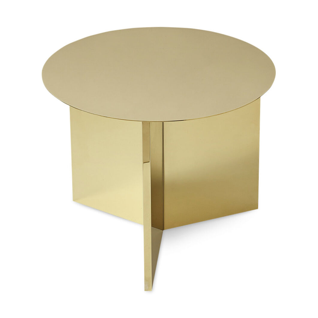 HAY Round Brass Slit Table in color
