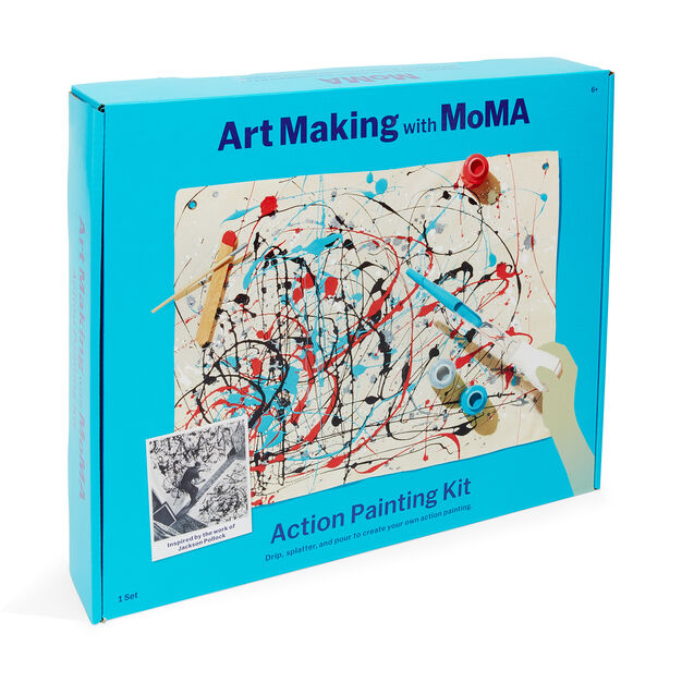 Art Making with MoMA: Action Painting Kit in color