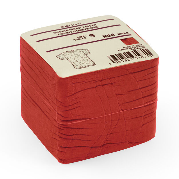 MUJI Red T-Shirt Cube in color Red