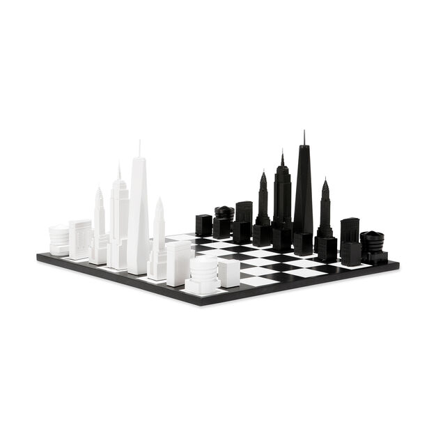 NYC Skyline Chess Set in color