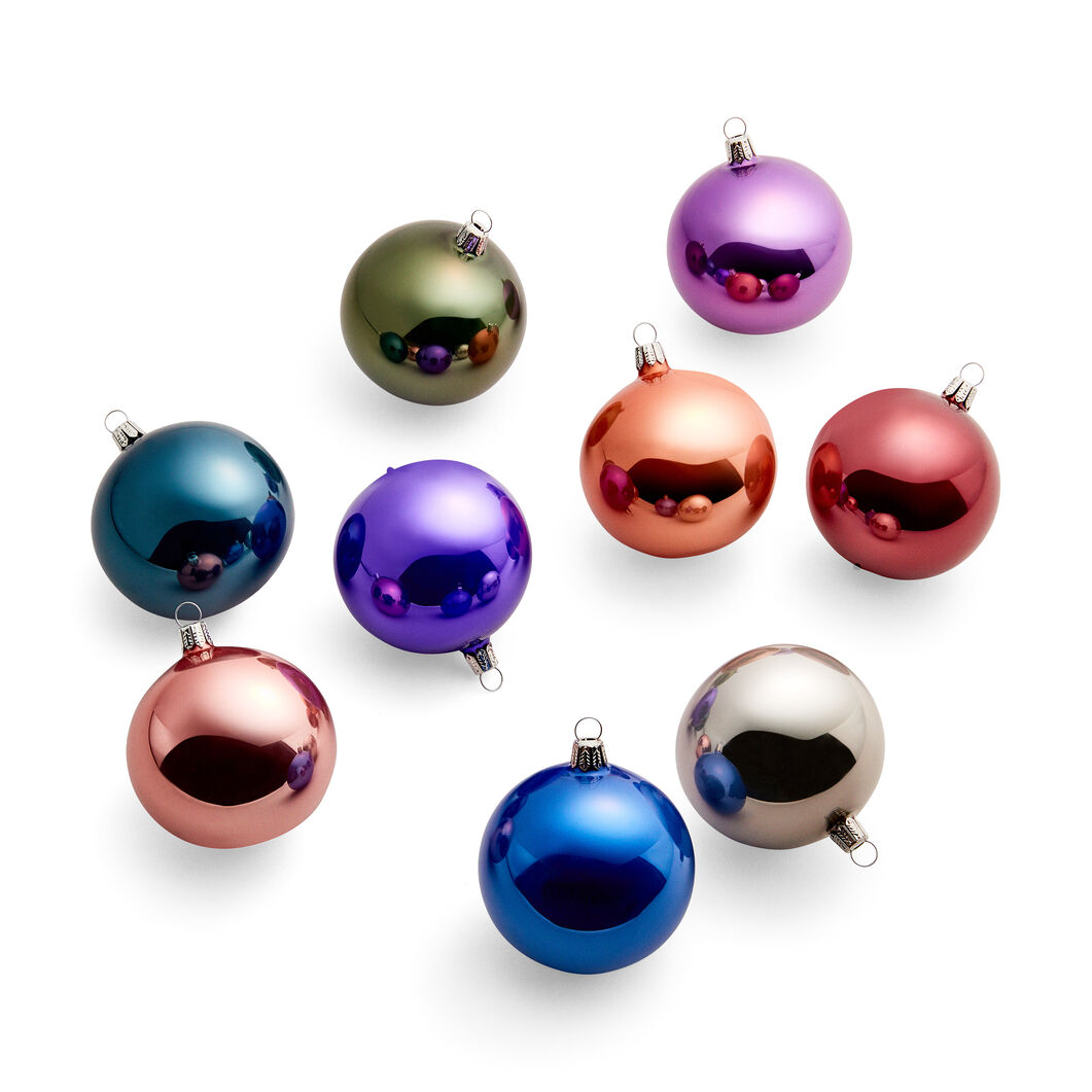 Violet Rainbow Holiday Ornament Set in color