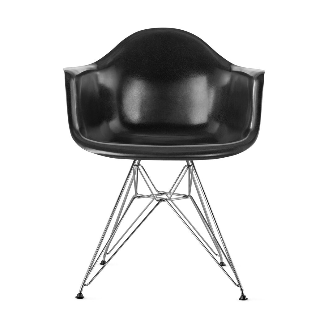 Eames DFAR Armchair  Black in color