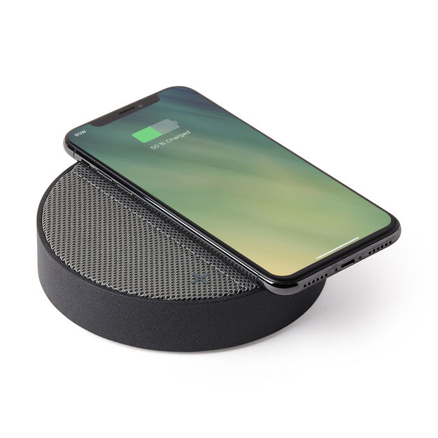 Lexon Oslo Energy Wireless Charging Station in color Gray